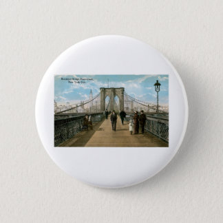 ブルックリン橋の遊歩道、ニューヨークシティ 缶バッジ