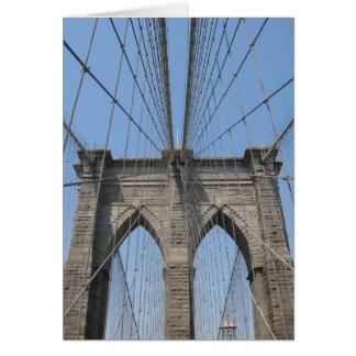 ブルックリン橋の郵便はがき カード