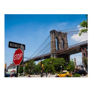 ブルックリン橋の郵便はがき ポストカード