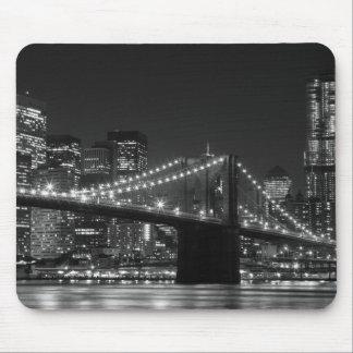 ブルックリン橋の黒くか白いコンピュータマウスパッド マウスパッド