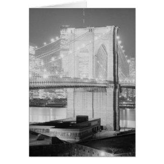 ブルックリン橋の黒及び白 カード