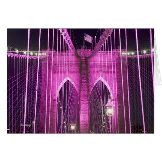 ブルックリン橋のLitの紫色 カード