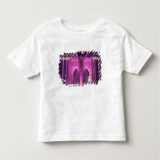 ブルックリン橋のLitの紫色 トドラーTシャツ