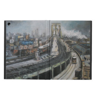 ブルックリン橋を絵を描くヴィンテージニューヨークシティ iPad AIRケース