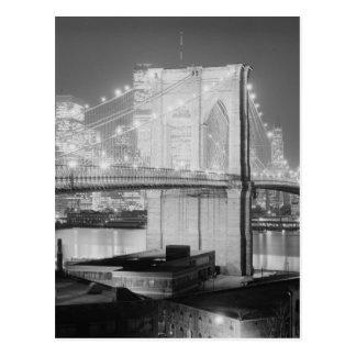 ブルックリン橋ニューヨーク米国 ポストカード