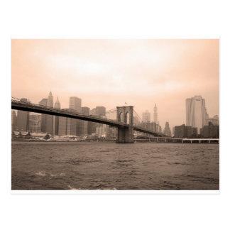 ブルックリン橋ニューヨーク ポストカード