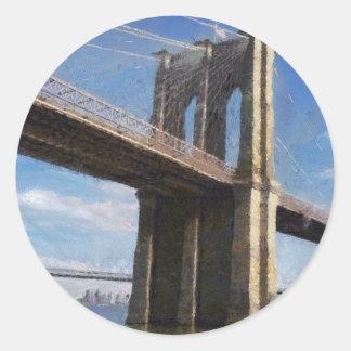 ブルックリン橋ニューヨーク ラウンドシール