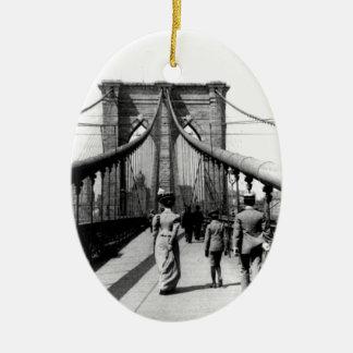 ブルックリン橋1899のオーナメント セラミックオーナメント