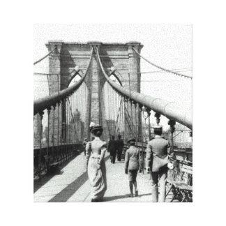 ブルックリン橋1899年 キャンバスプリント