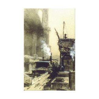 ブルックリン橋1912年 キャンバスプリント