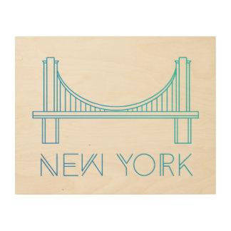 ブルックリン橋 ニューヨークシティ ウッドウォールアート
