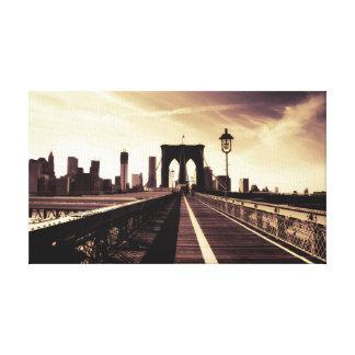 ブルックリン橋-ニューヨークシティ キャンバスプリント