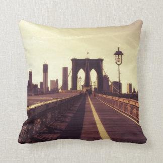ブルックリン橋-ニューヨークシティ クッション