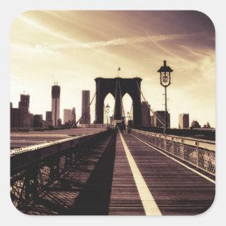 ブルックリン橋-ニューヨークシティ スクエアシール