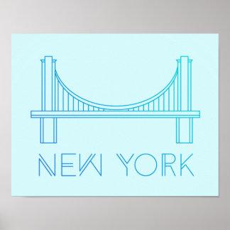 ブルックリン橋 ニューヨークシティ ポスター