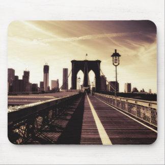 ブルックリン橋-ニューヨークシティ マウスパッド