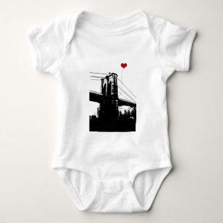 ブルックリン橋 ベビーボディスーツ