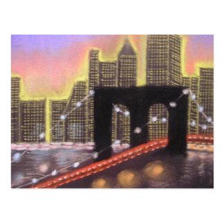ブルックリン橋 ポストカード