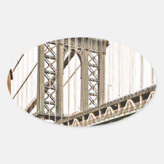 ブルックリン橋 楕円形シール