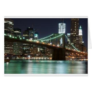 ブルックリン橋-色 カード