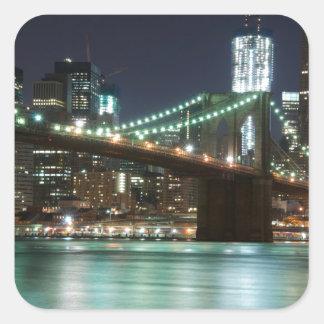 ブルックリン橋-色 スクエアシール