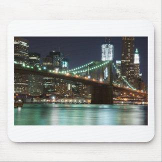 ブルックリン橋-色 マウスパッド