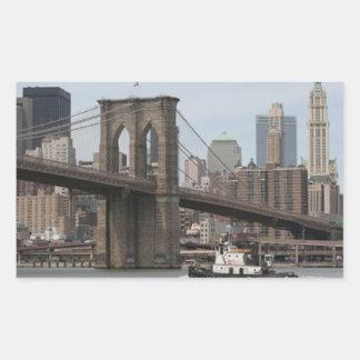 ブルックリン橋 長方形シール