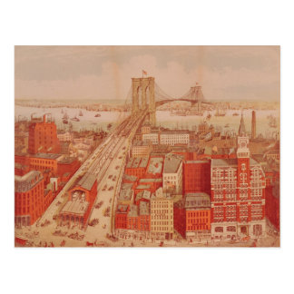 ブルックリン橋、c.1883 ポストカード