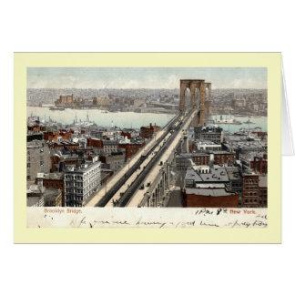 ブルックリン橋NYの1907年のヴィンテージ カード