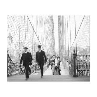 ブルックリン橋Walkway 1905年 キャンバスプリント