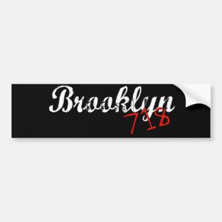 ブルックリン718 バンパーステッカー
