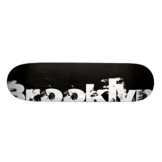 ブルックリン-ニューヨークの白黒カッコいい、はっきりした 18.7CM ミニスケートボードデッキ