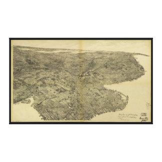 ブルックリン、ニューヨーク(1897年)の自治区 キャンバスプリント