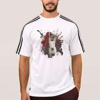 ブルテリアのはっきりしたな英国国旗白いアディダスのTシャツ Tシャツ