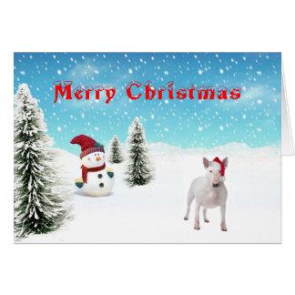 ブルテリアのクリスマスカード カード