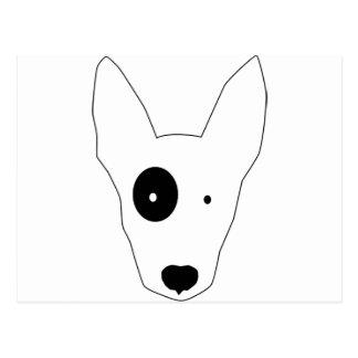 ブルテリア犬 ポストカード