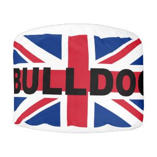 ブルドッグのイギリスUnited_Kingdomの一流の旗 プーフ