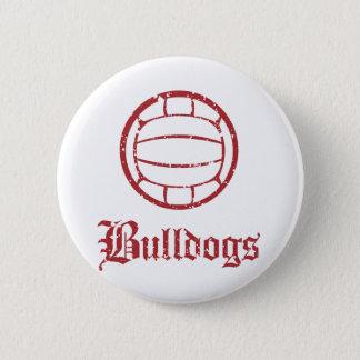 ブルドッグのバレーボール 缶バッジ
