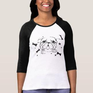 ブルドッグのプリントのTシャツ Tシャツ