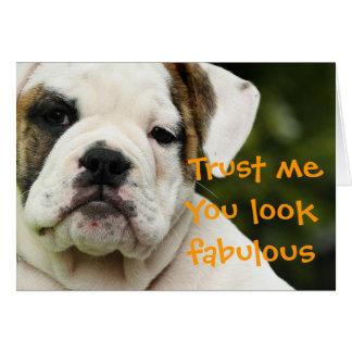 ブルドッグの子犬のおもしろいなバースデー・カード カード