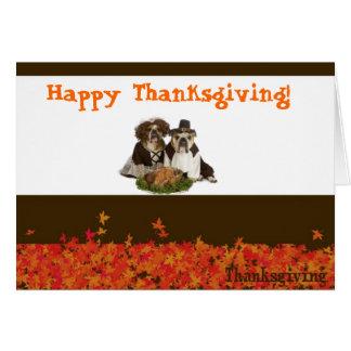 ブルドッグの感謝祭カード カード