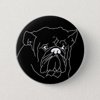 ブルドッグの暗闇ボタン 5.7CM 丸型バッジ