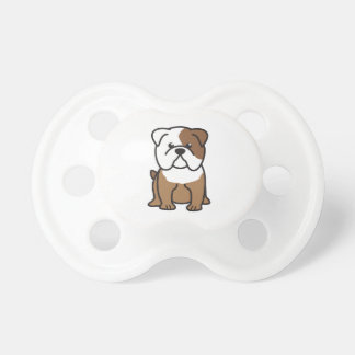 ブルドッグ犬の漫画 おしゃぶり