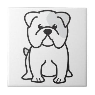 ブルドッグ犬の漫画 タイル
