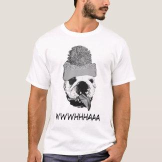 ブルドッグ- Wwwhhhaaa Tシャツ