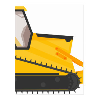 ブルドーザーの建築機械 ポストカード