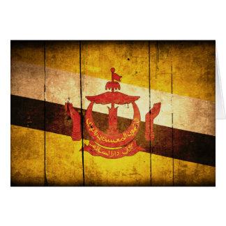 ブルネイの古い木製の旗 カード
