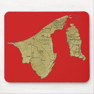 ブルネイの地図のマウスパッド マウスパッド