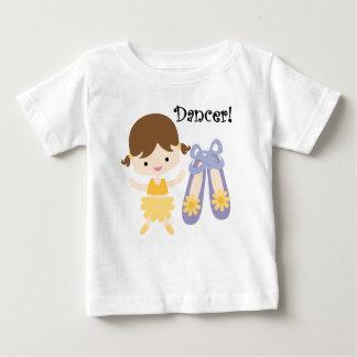 ブルネットのダンサー ベビーTシャツ