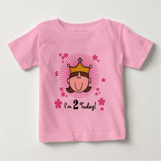 ブルネットのプリンセスの第2誕生日のTシャツおよびギフト ベビーTシャツ
